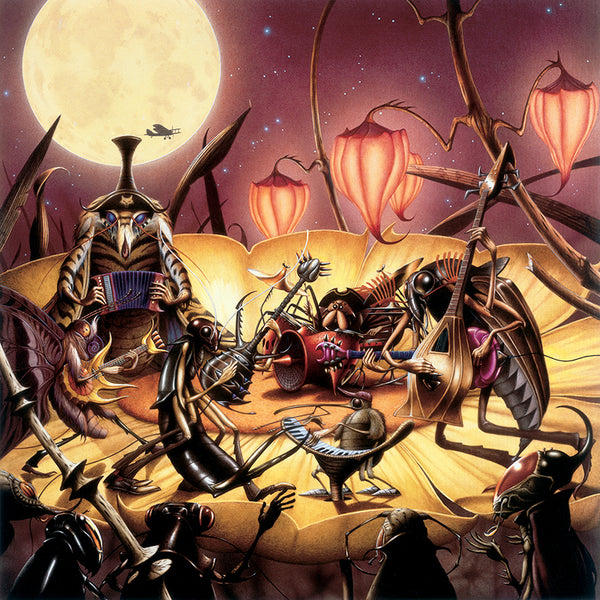 Sextet by Rodney Matthews | Commissioned by Ian A. Anderson for his album Howling Moth