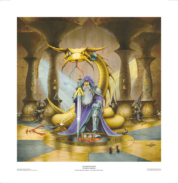 The Serpent Rings print by Rodney Matthews