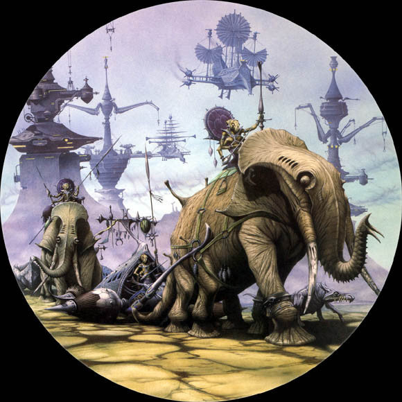 The Sack of Zodanga | Steampunk by Rodney Matthews