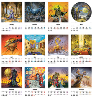 Rock Paintings 2021 Calendar Months