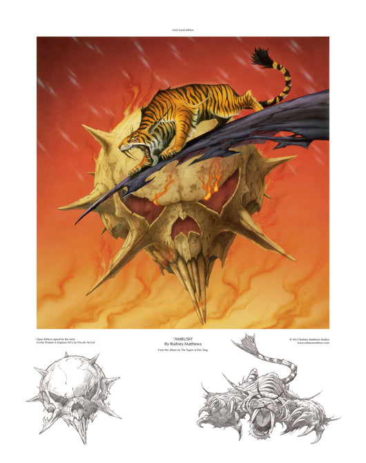 Ambush (Tygers of Pan Tang) open edition print, hand-signed by Rodney Matthews