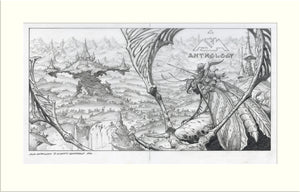 Anthology (Asia) original pencil drawing by Rodney Matthews