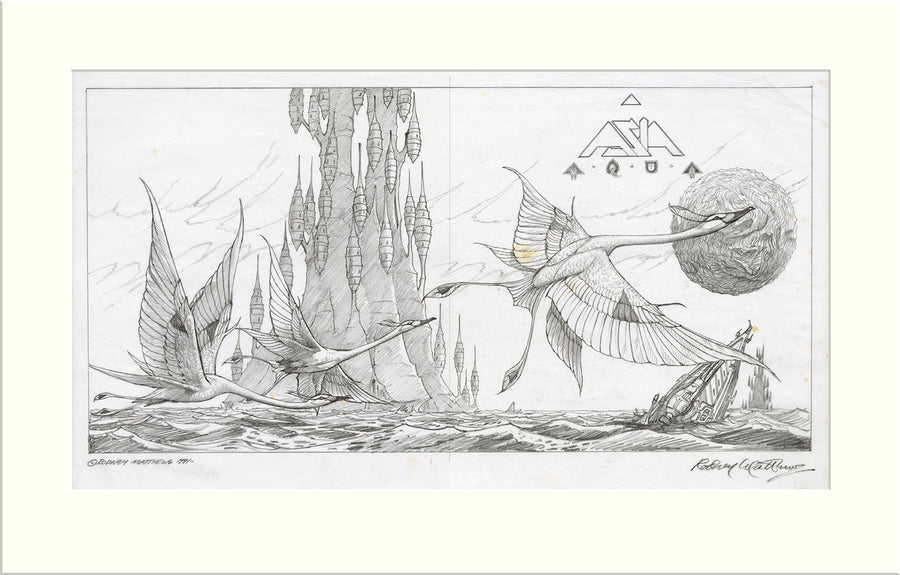 Aqua - Proposed (III) (Asia) original pencil drawing by Rodney Matthews