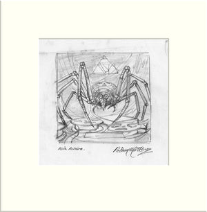 Archiva - Preliminary (I) (Asia) original pencil sketch by Rodney Matthews