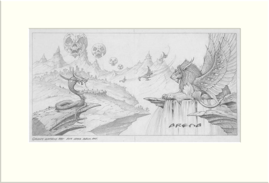 Arena (Asia) original pencil drawing by Rodney Matthews