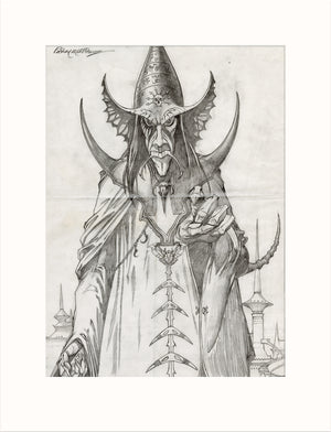 Arioch - Lord of Chaos original pencil drawing