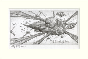 Armada (Asia) original pencil drawing by Rodney Matthews