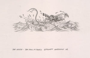 The Mouse - The Pool of Tears (Alice in Wonderland) original pencil sketch by Rodney Matthews