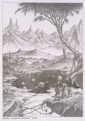 The Void (World of Illusions) original pencil sketch by Rodney Matthews