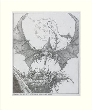 Caught in the Act (Stormzone) original pencil drawing by Rodney Matthews