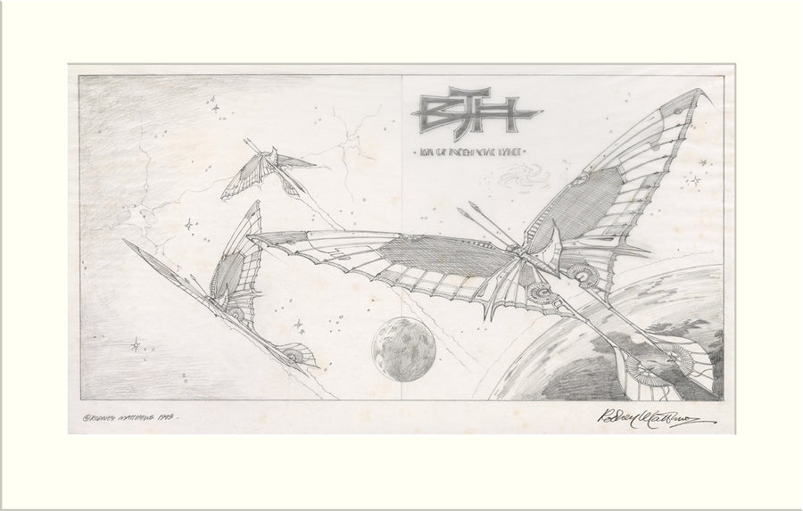 Caught in the Light - Alternative (II) (Barclay James Harvest) original pencil drawing by Rodney Matthews