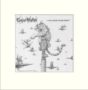 Crazy Nights (Proposed) (Tygers of Pan Tang) original pencil drawing by Rodney Matthews