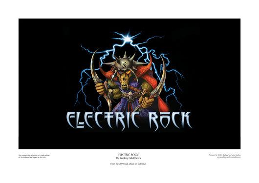 Electric Rock limited edition print by Rodney Matthews