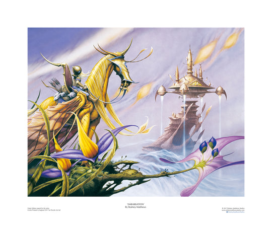 Embarkation open edition print, hand-signed by Rodney Matthews