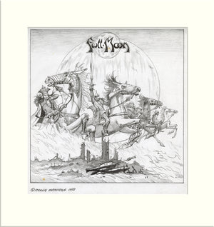 Full Moon (Full Moon) original pencil drawing by Rodney Matthews