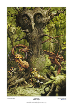 Jabberwocky limited edition print by Rodney Matthews co-signed by Oliver Wakeman