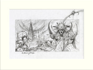 No Means of Escape - Preliminary (Nazareth) original pencil sketch by Rodney Matthews