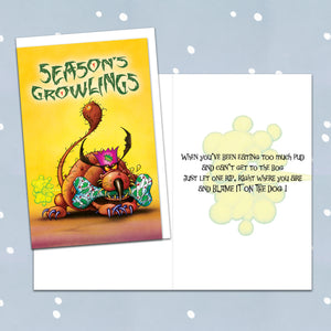 Season's Growlings Christmas Card