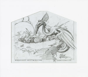 The Dragon Colony original pencil sketch