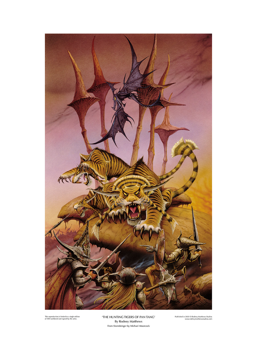 The Hunting Tigers of Pan Tang limited edition giclèe art print