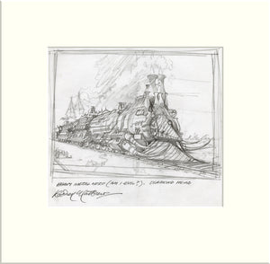 The Heavy Metal Hero - Preliminary (I) (Diamond Head) original pencil sketch by Rodney Matthews