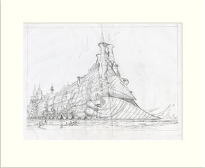 The Heavy Metal Hero - Preliminary (II) (Diamond Head) original pencil sketch by Rodney Matthews