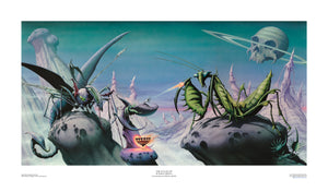Time Tells No Lies (Praying Mantis) open edition print by Rodney Matthews