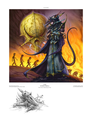 Intelligent Design (V-Rat) open edition print by Rodney Matthews