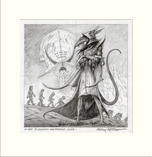 Intelligent Design (V-Rats) original pencil drawing by Rodney Matthews