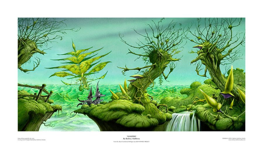 Whispers (Geof Whitely Project) open edition print by Rodney Matthews