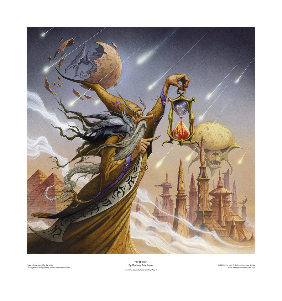 YETOTO (Geof Whitely Project) open edition print by Rodney Matthews
