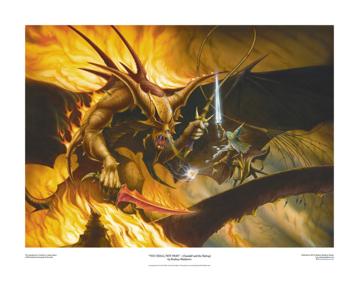 You Shall Not Pass! (Gandalf and the Balrog) (Limited Edition Print)