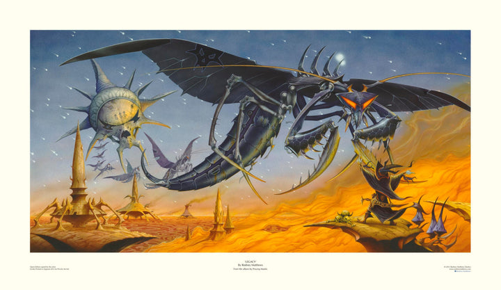 Legacy (Praying Mantis) open edition print, hand-signed by Rodney Matthews
