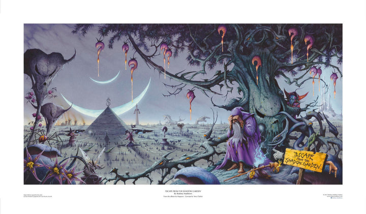 Escape from the Shadow Garden (Magnum) open edition print, hand-signed by Rodney Matthews