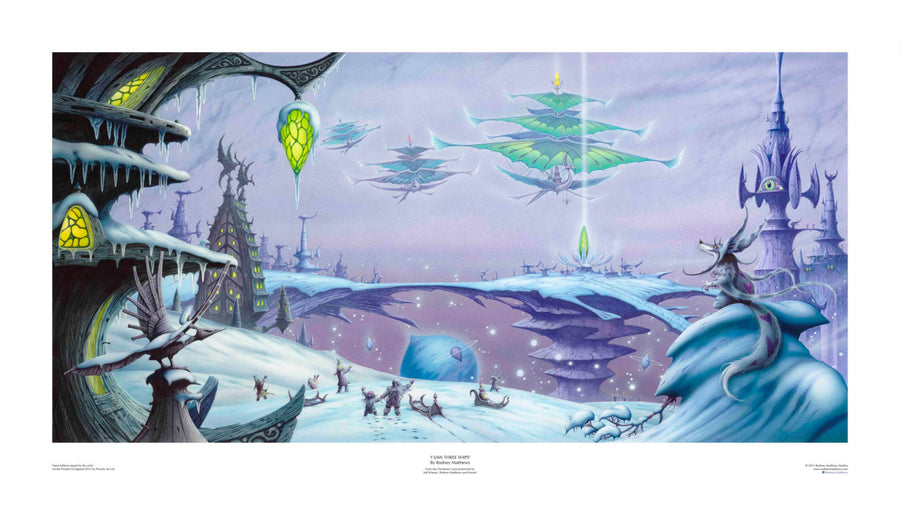 I Saw Three Ships (Rodney Matthews, Jeff Scheetz and Friends) Print