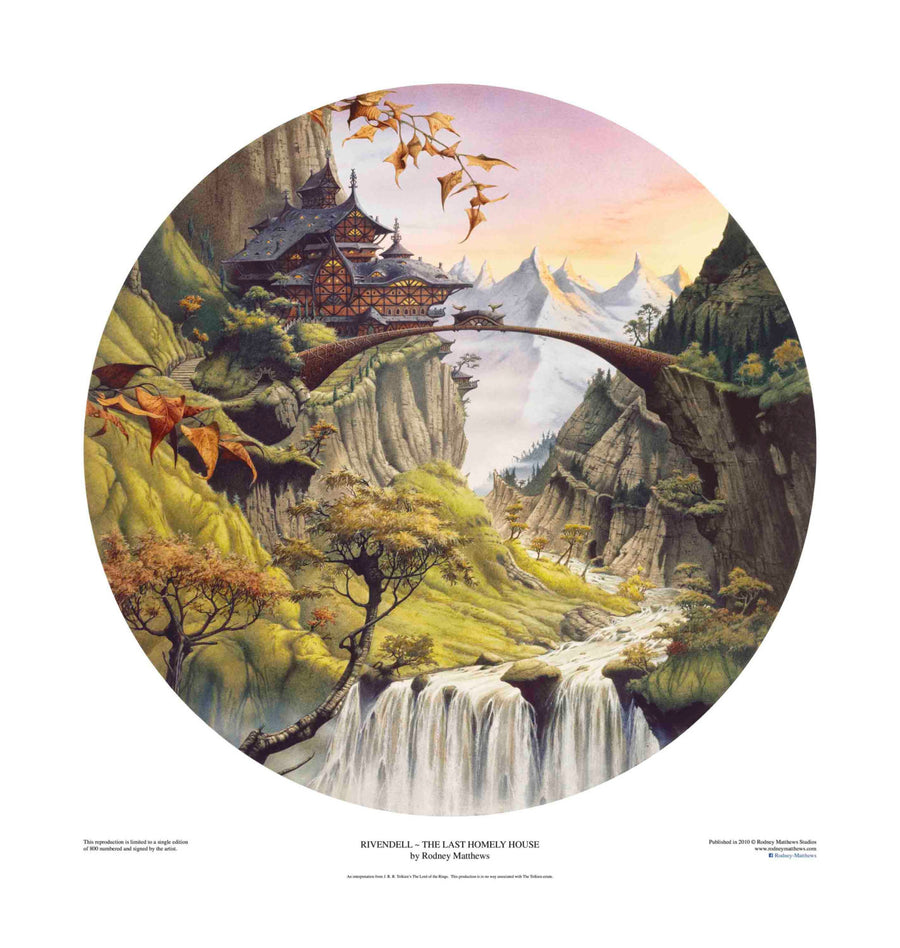 Rivendell ~ The Last Homely House limited edition giclèe art print