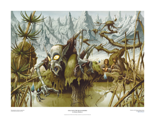 Gollum in the Dead Marshes (The Lord of the Rings) limited edition print, hand-signed and numbered by Rodney Matthews