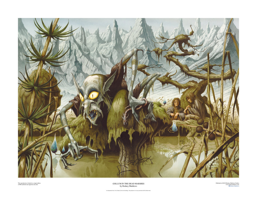 Gollum in the Dead Marshes limited edition giclèe art print