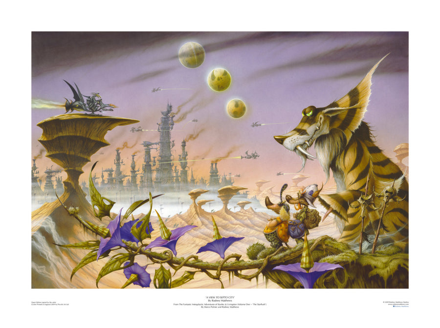A View to Septo City by Rodney Matthews | Rodney Matthews Studios