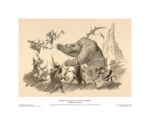 Beorn at the Battle of the Five Armies open edition giclèe art print
