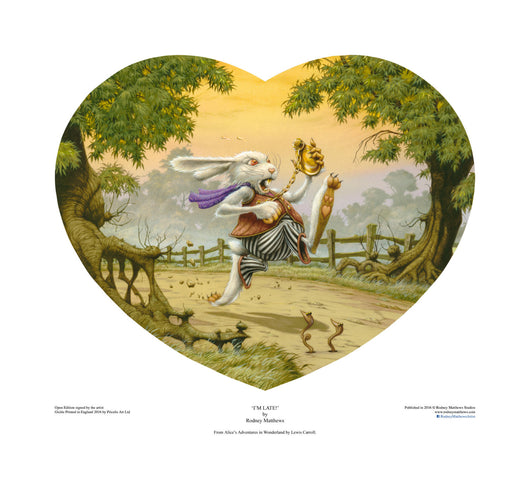 I'm Late! (Alice in Wonderland) open edition print, hand-signed by Rodney Matthews