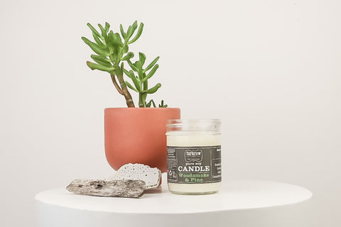 Wood Smoke & Pine Candle