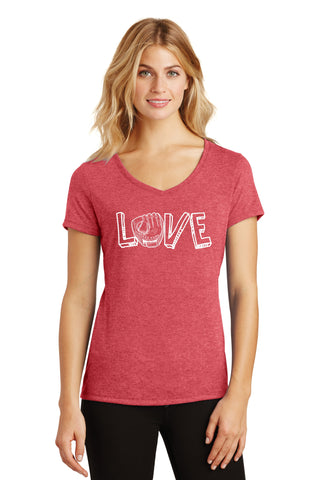 Baseball Love Women's V-Neck Tee