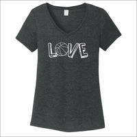 Basketball Love Women's V-Neck Tee