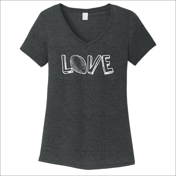 Football Love Women's V-Neck Tee