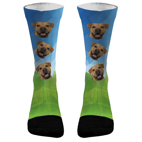 Your Pets Picture Prism Socks Dri Fit Athletic Compression Socks