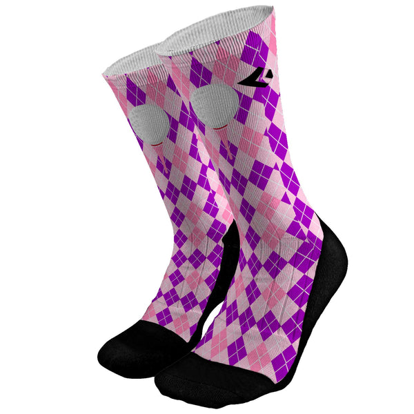 Golf Argyle Pink