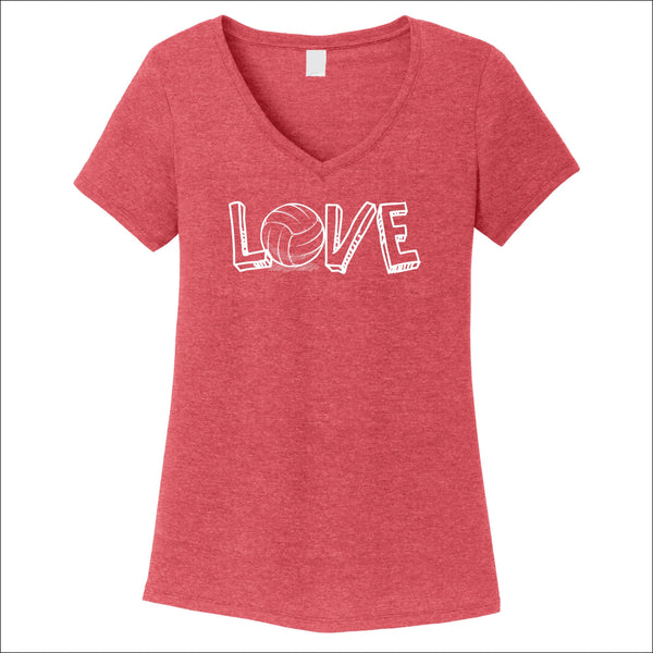 Volleyball Love Women's V-Neck Tee