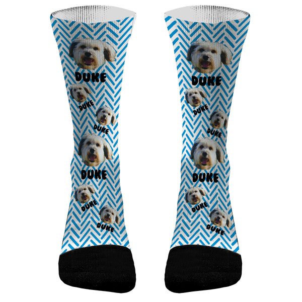 Pet Socks- Add a Name and Picture Socks Dri Fit Athletic Compression Socks
