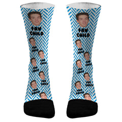 Favorite Child- Add a Name and Picture Socks Dri Fit Athletic Compression Socks